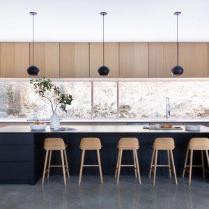 Scandinavian Kitchen with A19 Pendent Lights