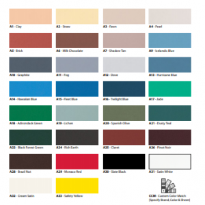 Various swatches of Solid Acrylic Finishes